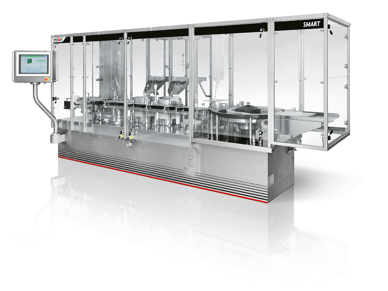 SMART is the answer to the increasing demand for even more flexible and versatile processing and packaging solutions. Short start-up times, easy changeovers and a high degree of automation are key considerations.  SMART can be equipped with all types of dosing systems typical of the aseptic operations, and it is suitable for installation in cleanroom or under isolator, being all materials compatible with sterilizing agents and suitable for VHP exposure.  Available machine versions: SVP and LVP, with or without integrated capping module.
